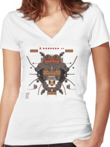 The robobugs guitar Women's Fitted V-Neck T-Shirt