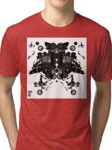 black motorbike robot 1 Tri-blend T-Shirt