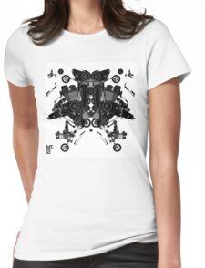 black motorbike robot 1 Womens Fitted T-Shirt
