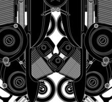 black motorbike robot 1 Sticker