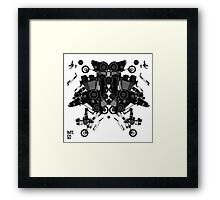 black motorbike robot 1 Framed Print