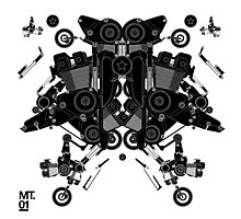 black motorbike robot 1 Photographic Print