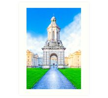 The Campanile At Trinity College In Dublin Ireland Art Print