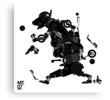 black motorbike robo 2 Canvas Print