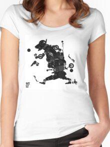 black motorbike robo 2 Women's Fitted Scoop T-Shirt