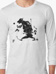 black motorbike robo 2 Long Sleeve T-Shirt