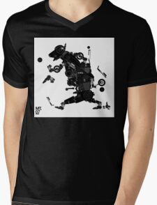 black motorbike robo 2 Mens V-Neck T-Shirt