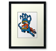 Monster Mouth Claw Framed Print