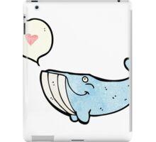 cartoon whale in love iPad Case/Skin