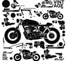 vintage motorbike cafe racer by singpentinkhepi