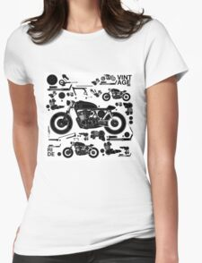 vintage motorbike cafe racer Womens Fitted T-Shirt
