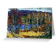 Autumn landscape in Deer Lake park Greeting Card