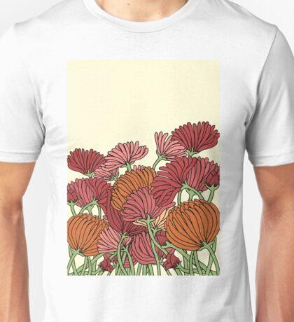 The Retro Garden Flowers Unisex T-Shirt