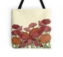 The Retro Garden Flowers Tote Bag