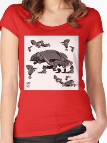 Animal robots Women's Fitted Scoop T-Shirt