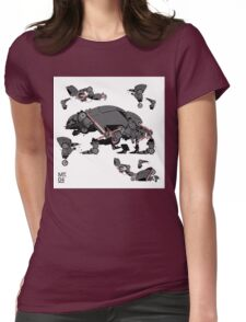 Animal robots Womens Fitted T-Shirt