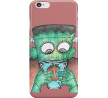 Frankenstein's Monster Learning How To Use Modern Tech iPhone Case/Skin