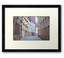 Quiet Empty Street Framed Print