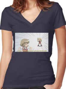 Love - Hidamari Sketch Women's Fitted V-Neck T-Shirt