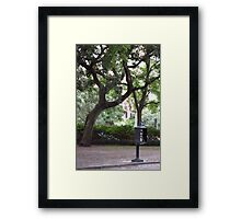 Pay Phone In The Park Framed Print
