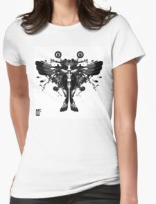 blackbird motorbike robo Womens Fitted T-Shirt