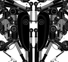 blackbird motorbike robo Sticker
