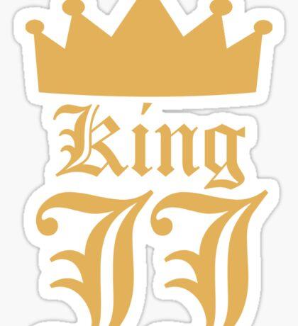 King JJ (Gold) - Style #1 Sticker