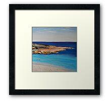 Tranquil Morning Swim at Salmon Beach Framed Print