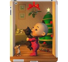 Under the Mistletoe - Only a little reticent - square version iPad Case/Skin