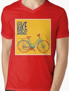 Bike to work Mens V-Neck T-Shirt
