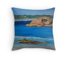 Twilight Beach Throw Pillow