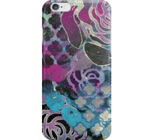 Purple roses abstract print iPhone Case/Skin