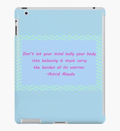 Anxiety Relief iPad Case/Skin