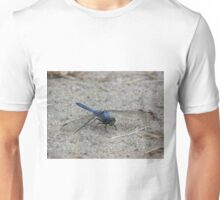 Blue Dragonfly In The Sand Unisex T-Shirt