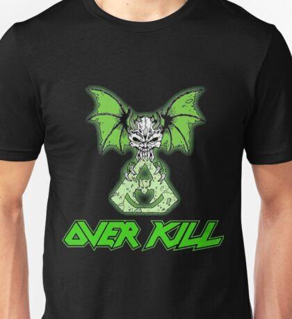 Overkill skull bat green  Unisex T-Shirt