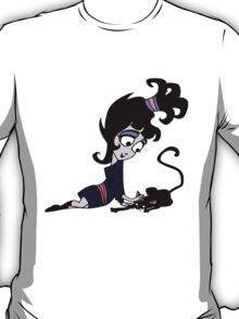 Beetlejuice - Lydia with Cat T-Shirt