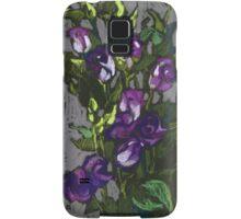 Violet flowers in a bunch Samsung Galaxy Case/Skin
