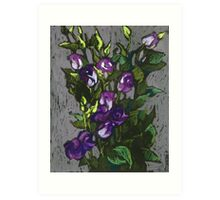 Violet flowers in a bunch Art Print