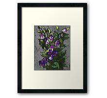 Violet flowers in a bunch Framed Print