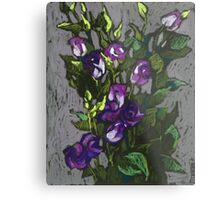 Violet flowers in a bunch Metal Print