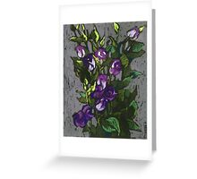 Violet flowers in a bunch Greeting Card
