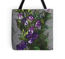 Violet flowers in a bunch Tote Bag