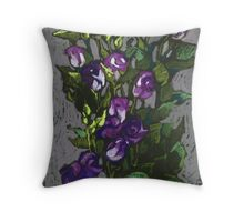 Violet flowers in a bunch Throw Pillow