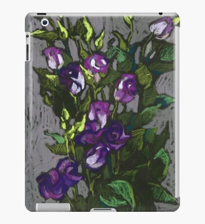 Violet flowers in a bunch iPad Case/Skin
