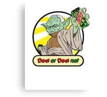 Dew or Dew Not - Yoda - Black Boarder Canvas Print