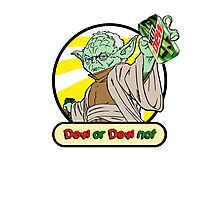 Dew or Dew Not - Yoda - Black Boarder Photographic Print