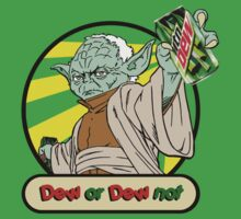 Dew or Dew Not - Yoda - Black Boarder by DGArt