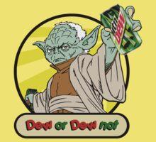 Dew or Dew Not - Yoda - Black Boarder Kids Clothes