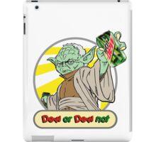 Dew or Dew Not - Yoda - Grey Boarder iPad Case/Skin