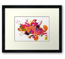 artistic Background of paint vibrant colors Framed Print